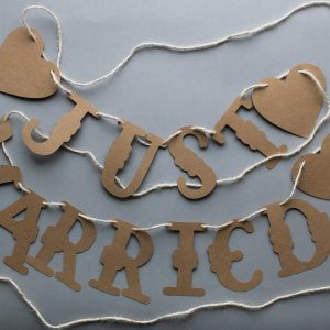 "Girlande ""Just Married"""