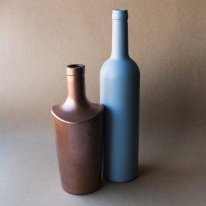 angesprühte Flasche