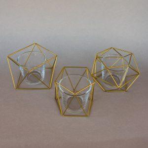 Teelichthalter geometrisch