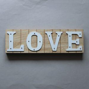 """LED Schild """"Love"""", klein"""